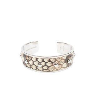 TOD'S Genuine Snakeskin Python Cuff Bracelet